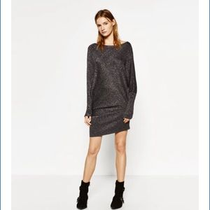 Zara Asymmetrical Knit Tunic/Mini Sweater